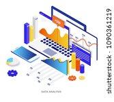 modern flat design isometric... | Shutterstock .eps vector #1090361219