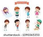 vector illustration of child... | Shutterstock .eps vector #1090365353