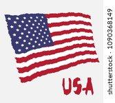 vintage national flag of usa in ...   Shutterstock .eps vector #1090368149