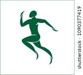 athletic icon. runner isolated   Shutterstock .eps vector #1090377419
