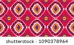 ikat geometric folklore... | Shutterstock .eps vector #1090378964