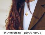 street style detail of a... | Shutterstock . vector #1090378976