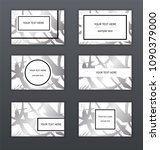 set of 6 white  black and... | Shutterstock .eps vector #1090379000