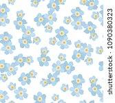 forget me not myosotis floral... | Shutterstock .eps vector #1090380323