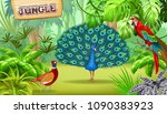 poster tropical jungle and...   Shutterstock .eps vector #1090383923