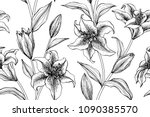 seamless flower pattern... | Shutterstock .eps vector #1090385570