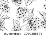 seamless flower pattern... | Shutterstock .eps vector #1090385576