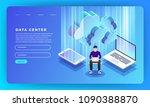mock up design website flat... | Shutterstock .eps vector #1090388870