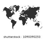 world map. vector | Shutterstock .eps vector #1090390253