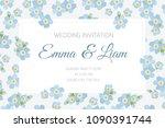 wedding marriage event... | Shutterstock .eps vector #1090391744