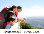 Family On A Trek Day In The...