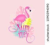 tropical summer illustration...   Shutterstock .eps vector #1090394090