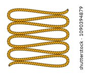 natural brown twine rope in... | Shutterstock .eps vector #1090394879