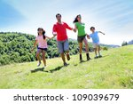 happy family enjoying and... | Shutterstock . vector #109039679