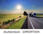 truck transportation on the...   Shutterstock . vector #1090397654