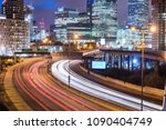 city night view with... | Shutterstock . vector #1090404749