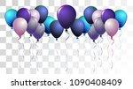 vibrant realistic helium vector ... | Shutterstock .eps vector #1090408409