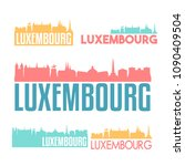 luxembourg city flat icon... | Shutterstock .eps vector #1090409504