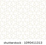 abstract geometric pattern with ... | Shutterstock .eps vector #1090411313