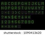 led digital alphabet.... | Shutterstock .eps vector #1090413620