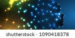 abstract artificial... | Shutterstock .eps vector #1090418378