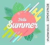 hello summer background use for ...   Shutterstock .eps vector #1090419638
