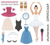 profession and occupation set.... | Shutterstock .eps vector #1090421669