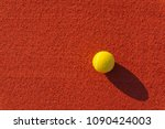 close up of a tennis ball on a... | Shutterstock . vector #1090424003