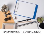 paper on pad clipboard and...   Shutterstock . vector #1090425320