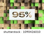 white paper cut 95  symbol on... | Shutterstock . vector #1090426010