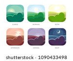 visualization of various times... | Shutterstock .eps vector #1090433498