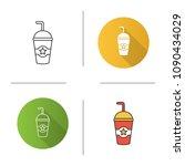 cinema cold drink icon.... | Shutterstock .eps vector #1090434029