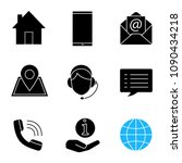 information center glyph icons... | Shutterstock .eps vector #1090434218