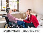 an elderly grandmother in...   Shutterstock . vector #1090439540