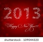 2013 new year postcard. vector... | Shutterstock .eps vector #109044320