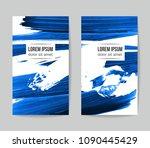 set of vector business card...   Shutterstock .eps vector #1090445429