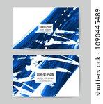 set of vector business card...   Shutterstock .eps vector #1090445489