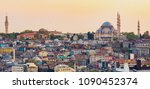 istanbul cityscape   panoramic... | Shutterstock . vector #1090452374