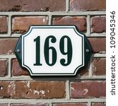 house number hundred and sixty... | Shutterstock . vector #109045346