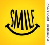 smile icon logo vector template ... | Shutterstock .eps vector #1090457930