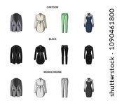 women clothing cartoon black...   Shutterstock .eps vector #1090461800