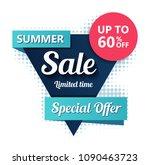 sale banner design. vector... | Shutterstock .eps vector #1090463723