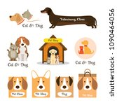 cats   dogs logos and symbols | Shutterstock .eps vector #1090464056