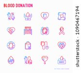 blood donation  charity  mutual ... | Shutterstock .eps vector #1090467194