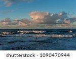 Rolling Cloudscape Over Seawaves Sunset - Fine Art prints