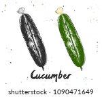 engraved style illustration for ... | Shutterstock . vector #1090471649