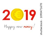 new year 2019 business concept. ... | Shutterstock .eps vector #1090471670