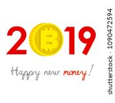 new year 2019 business concept. ... | Shutterstock .eps vector #1090472594