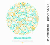 organic products concept in... | Shutterstock .eps vector #1090472714