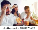 disappointed colombian soccer... | Shutterstock . vector #1090473689
